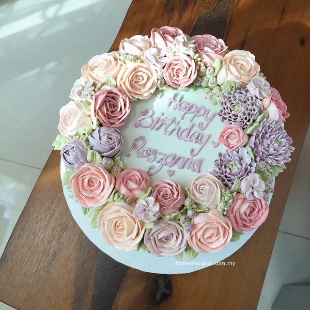 Index Of Wp Contentgallerybespoke Buttercream Flower Cakes