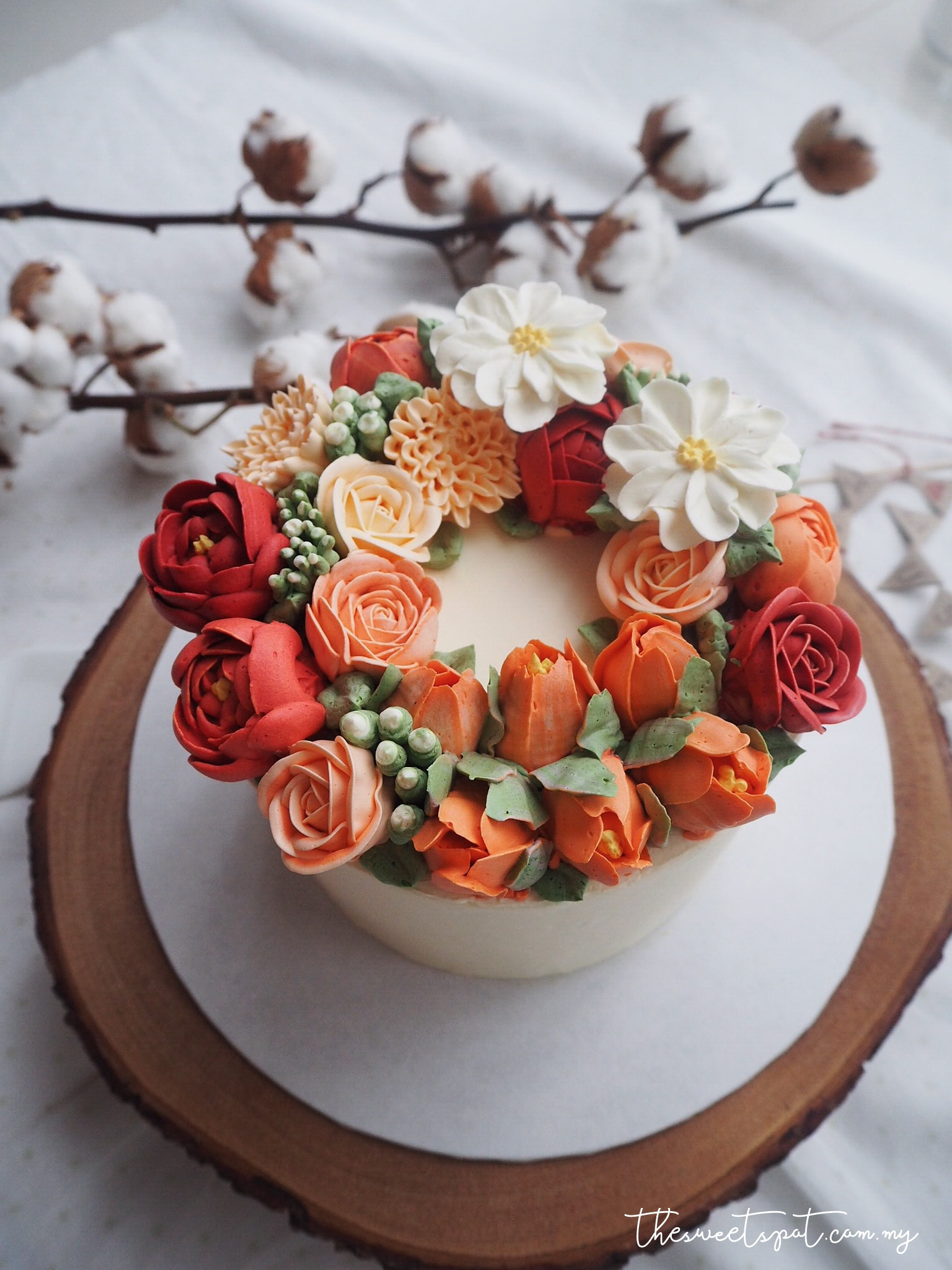 "Autumn colour 6"" Wreath"