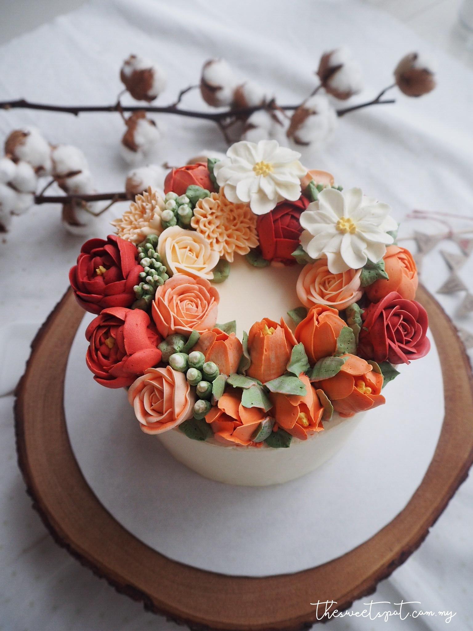 Orange Flower Bouquet Cake Flowers Healthy