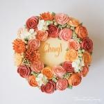 "8"" Bespoke Buttercream Flower Wreath"