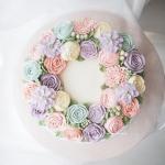 """8"""" Bespoke buttercream flower cake"""