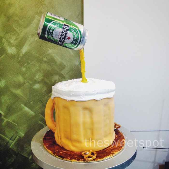 beer design birthday cake