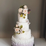 4 tier ruffle and roses