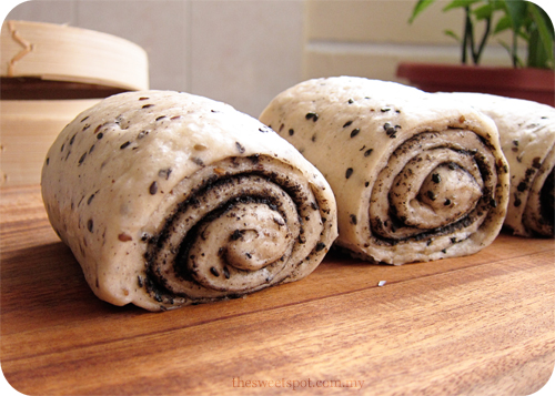 Black Sesame Mantou 黑芝麻饅頭