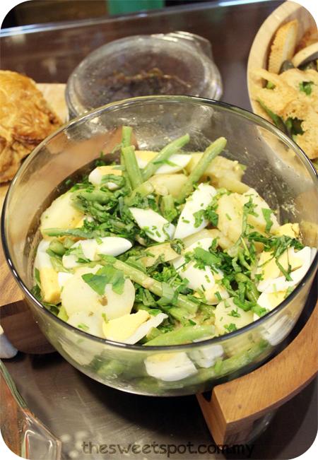 Christmas bean potato french salad