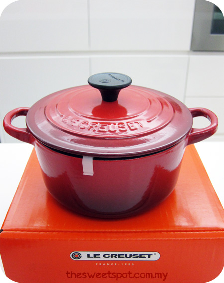 Le Creuset cherry red