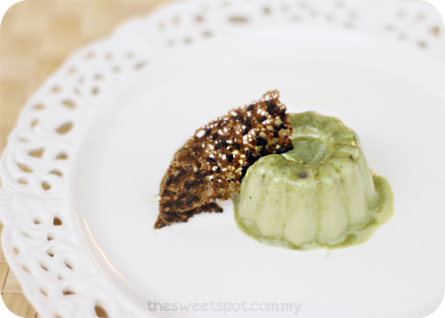 green tea panna cotta 2