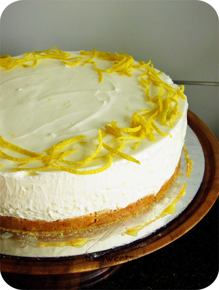 No Bake Lemon Cheesecake The Sweet Spot