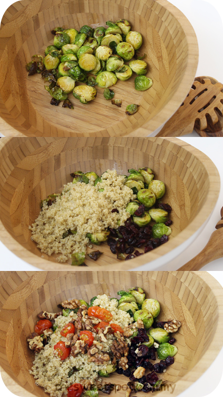 quinoa brusels sprouts salad
