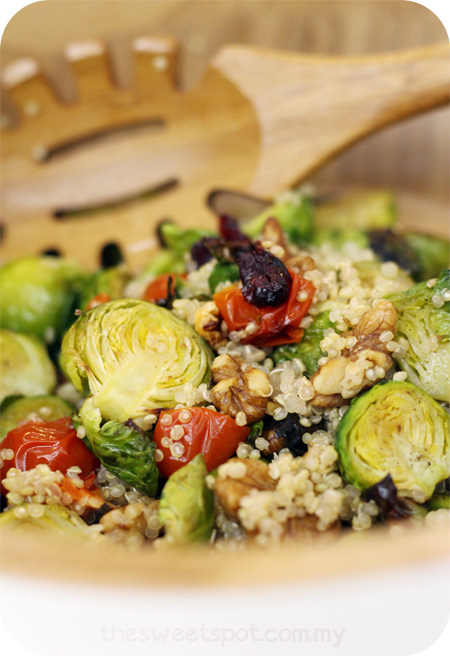 quinoa brussels sprout salad