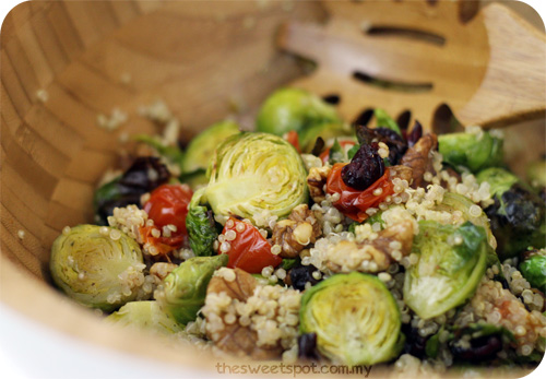 quinoa roasted brussels sprout