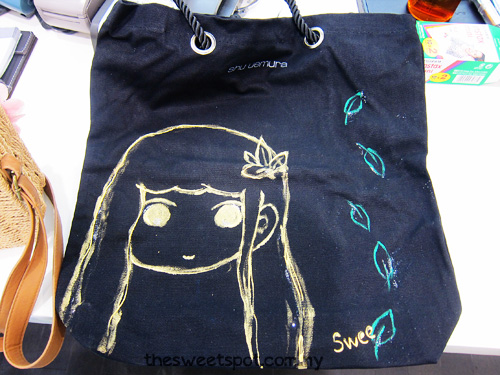 shu-uemura canvas bag