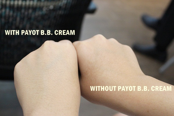 PAYOT bb cream before after