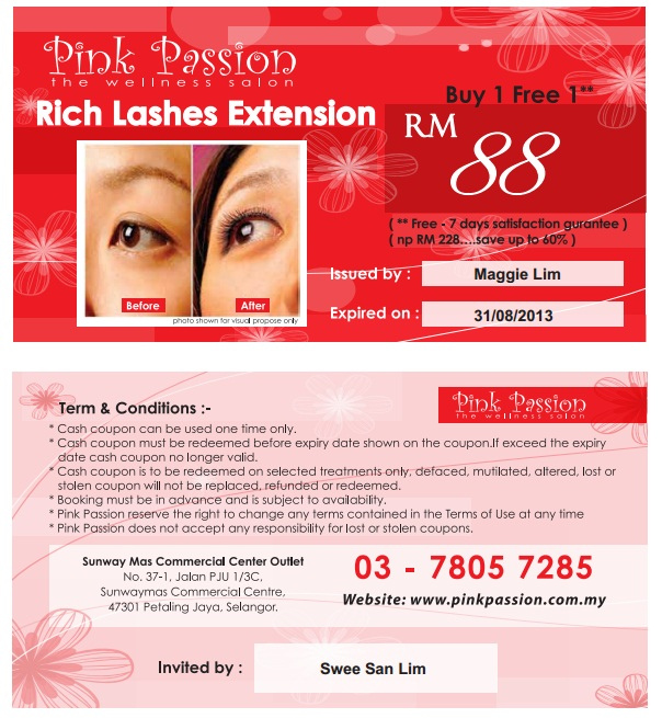 Pink Passion Promo voucher - sweesanlim