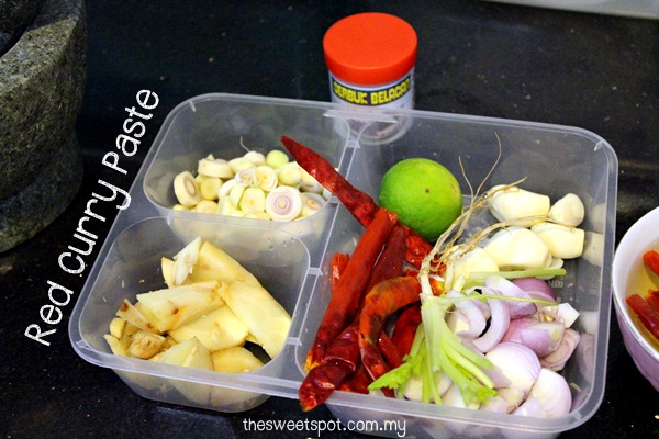 Red Curry Paste - ingredients