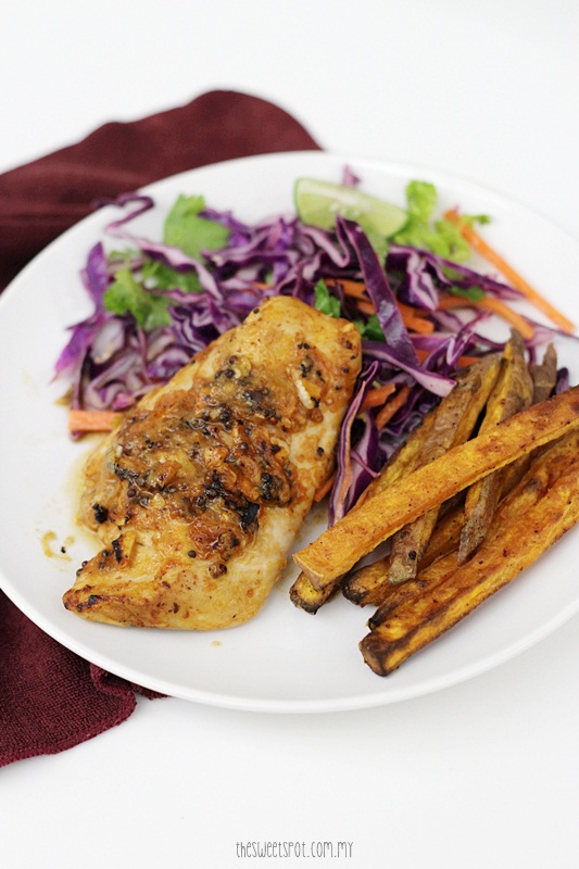 Spicy harissa chicken with kiwi