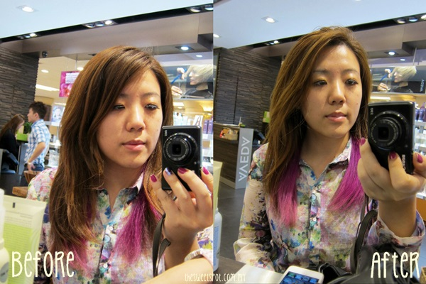 aveda before after hair