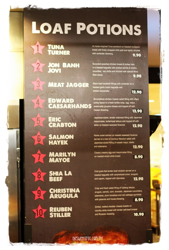 bwiched menu in BIG publika