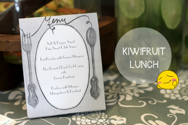 kiwifruit lunch menu