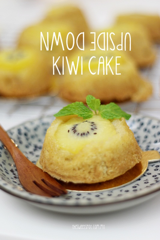 upside down kiwi mini cake ZESPRI
