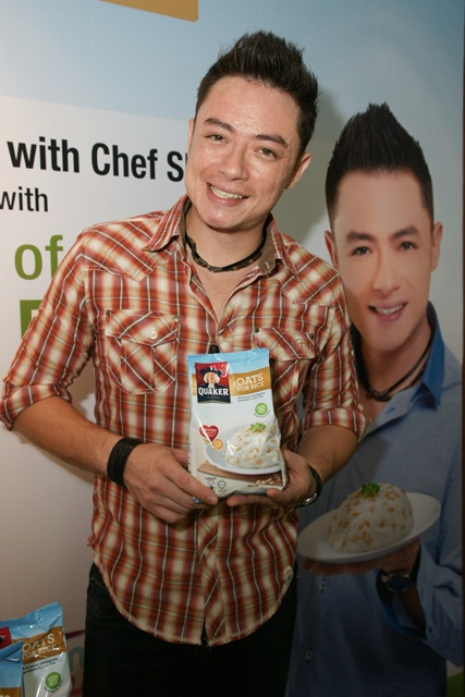Chef Sherson Lian, Brand Ambassador for Quaker oats for Rice