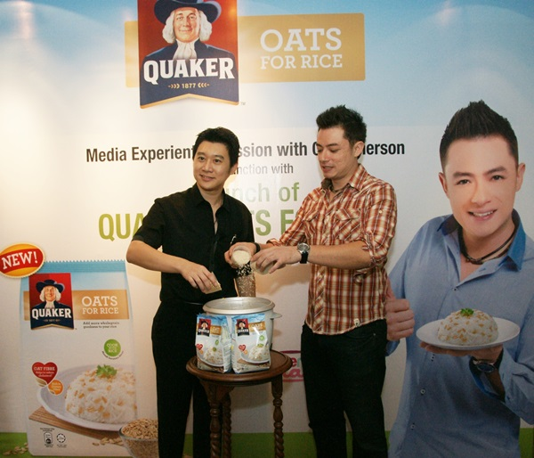 Launch of Quaker Oats for Rice (l-r) - Alex Ooi, Head of Marketing PepsiCo Malaysia and Chef Sherson Lian