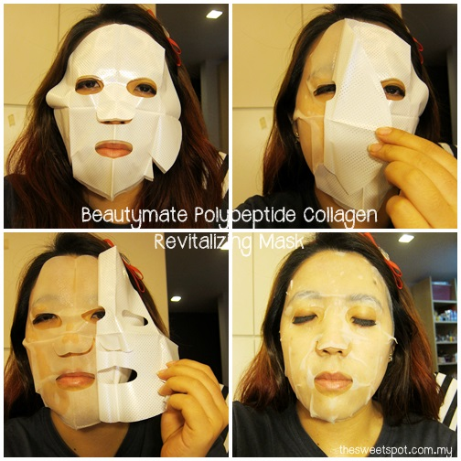beautymate hishop polypeptide collagen revitalizing mask