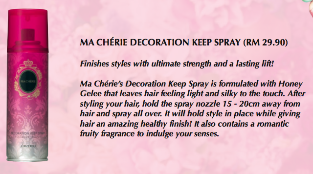 ma cherie decoration keep spray