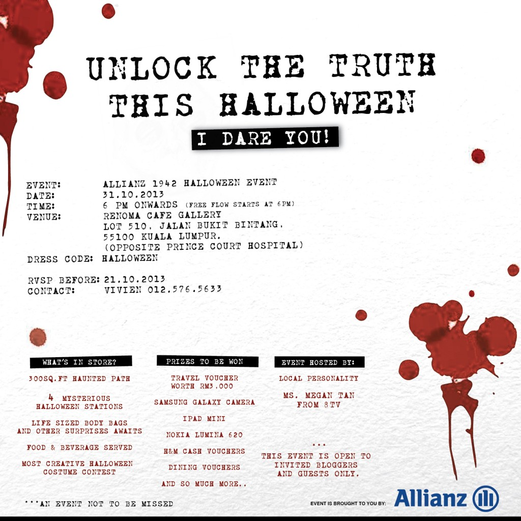 Allianz Halloween Event Invitation