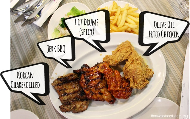 1 Utama - Food Wonder - BBQ Chicken platter
