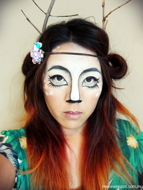 Deer Makeup for Halloween 2