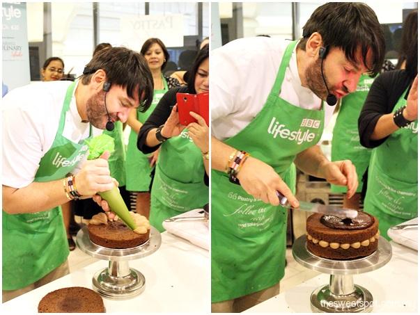 Eric Lanlard in Starhill Culinary Studio BBC HyppTV chocolate cake 3