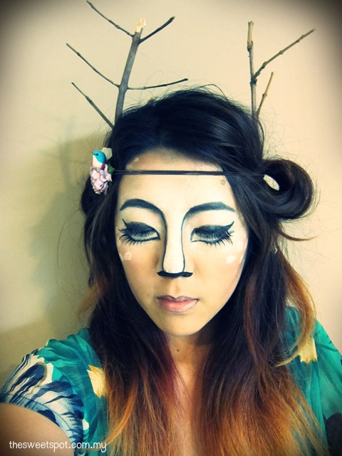 Halloween Deer Make Up