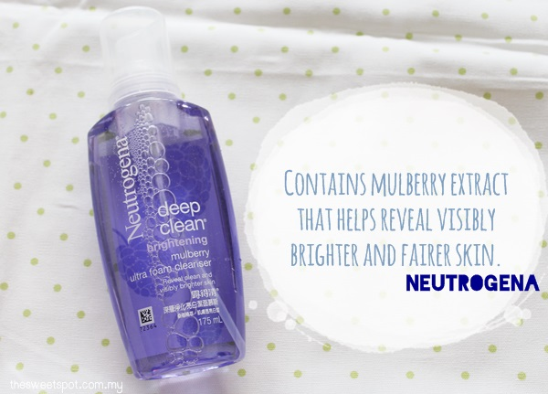 NEUTROGENA MULBERRY FOAM CLEANSER