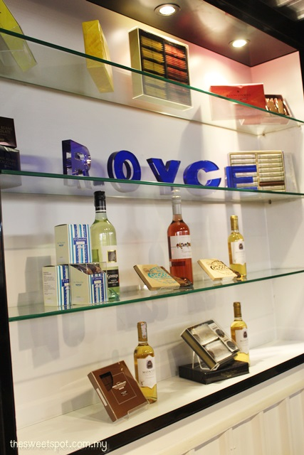 Royce Chocolate and Nam Lee Cheong wineshop pairing in publika