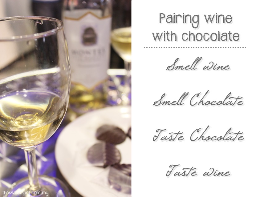 Royce Chocolate and Nam Lee Cheong wineshop pairing