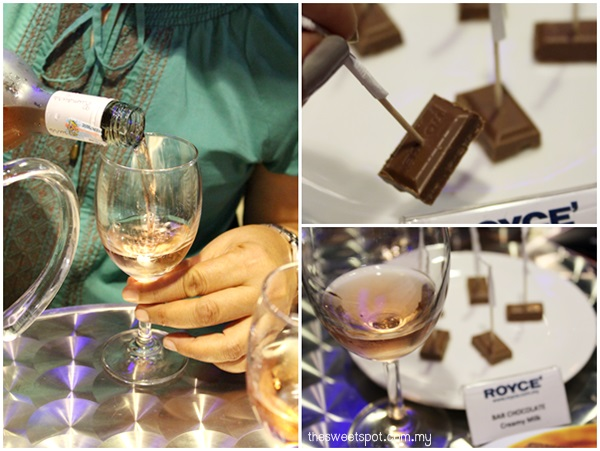 bar chocolate - pink moscato