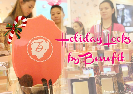 Benefit holiday look butterfly bloggers
