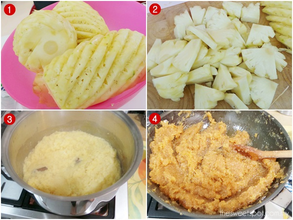 CNY cooking homemade pineapple paste