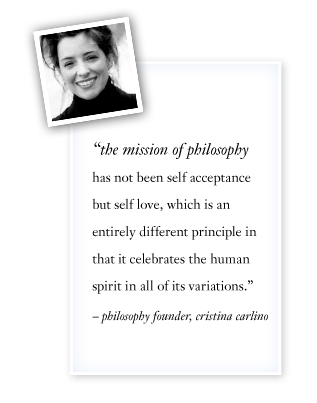 philosophy founder christina carlino