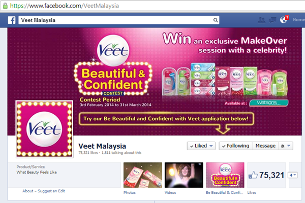 Veet Malaysia Facebook Page