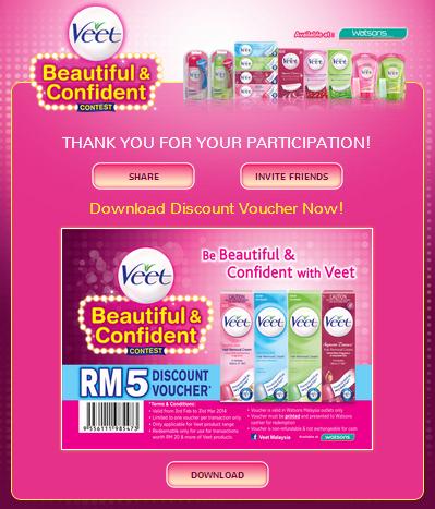 veet discount voucher RM 5