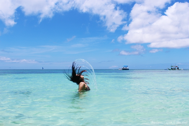 Hair Flip in Diniwid Beach