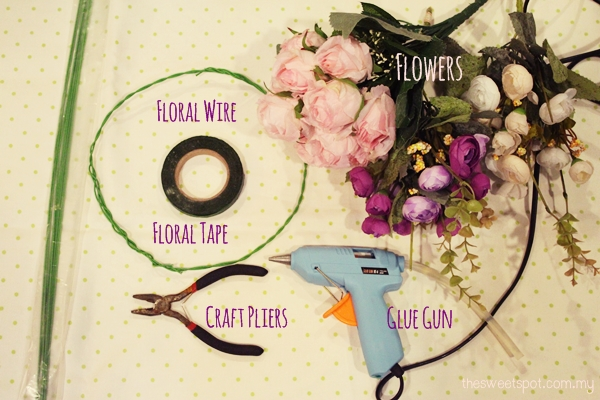 Supplies for Flower Crown