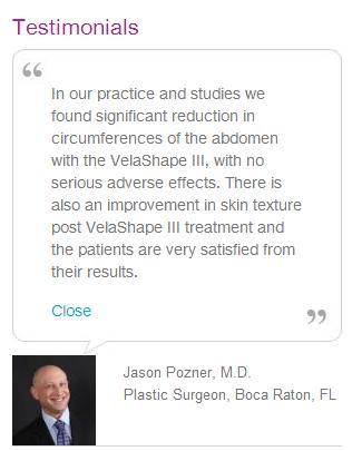 Velashape testimonials