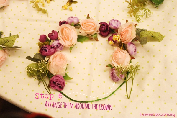 flower crown step 6