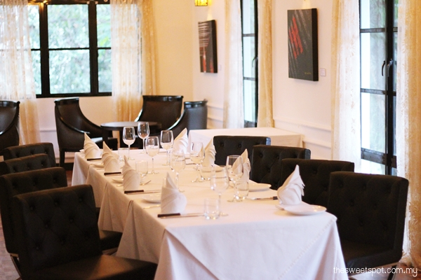 MF private dining area