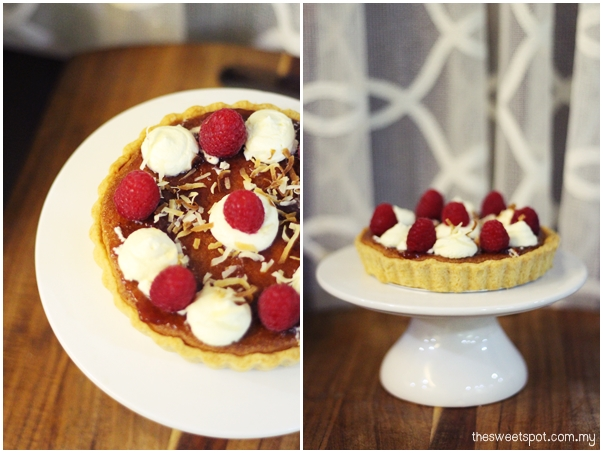 rapsberry almond tart 2