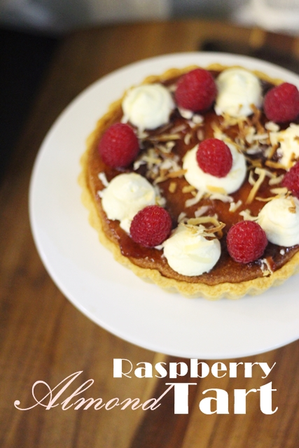 raspberry almond tart 2
