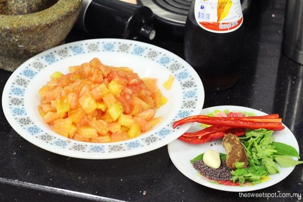 tomato coriander dip mission chips
